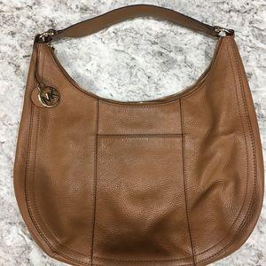 Michael Kors Camel Leather Shoulder Bag